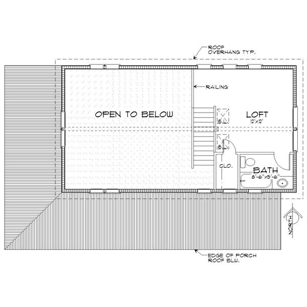 Cabin Floor Plan - Upper Floor Plan Plan #452-3
