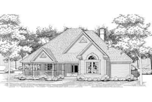 Country Exterior - Front Elevation Plan #120-128