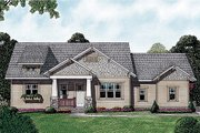 Craftsman Style House Plan - 3 Beds 3.5 Baths 3244 Sq/Ft Plan #453-12 Exterior - Front Elevation