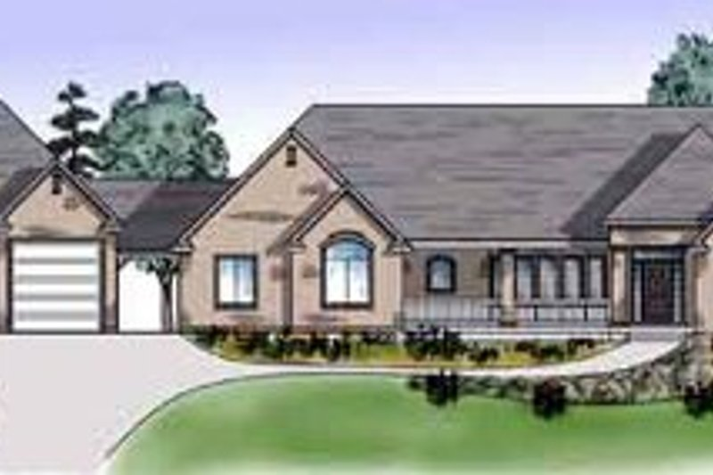 Home Plan - Exterior - Front Elevation Plan #5-163