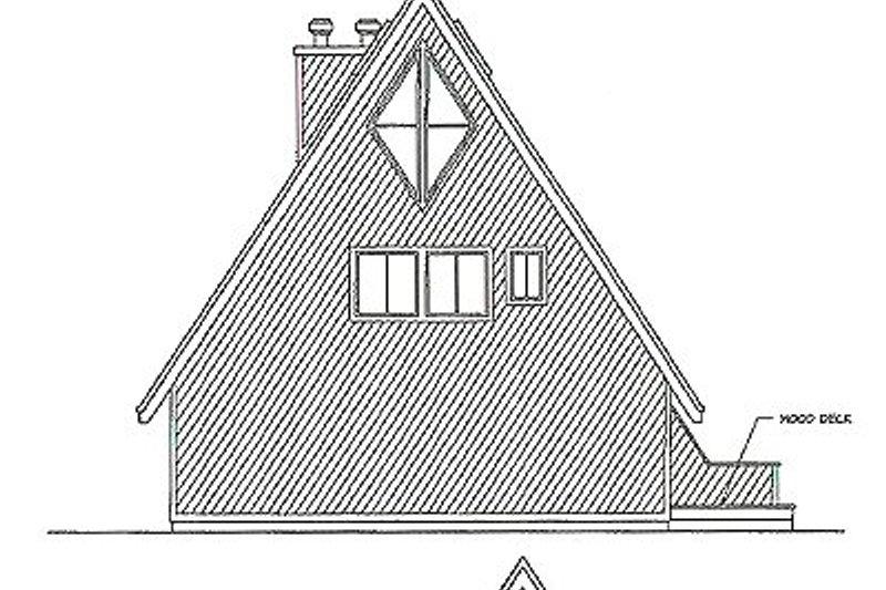 Contemporary Exterior - Rear Elevation Plan #124-405 - Houseplans.com