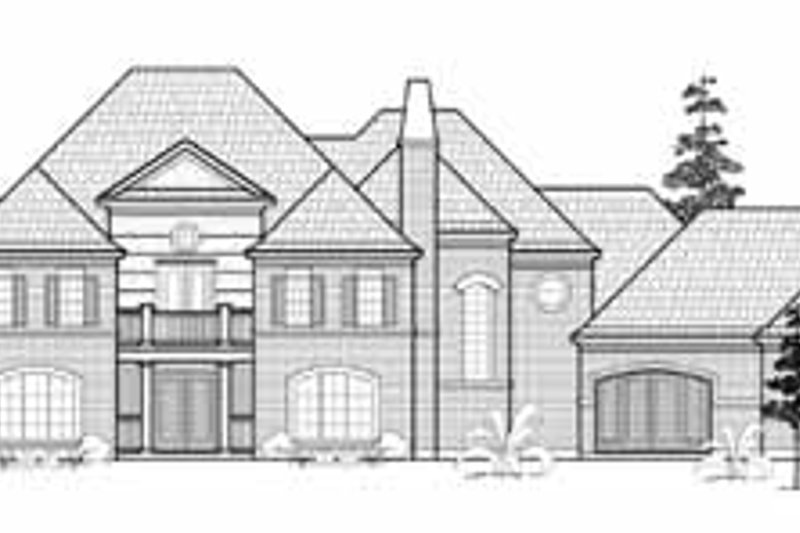 Traditional Exterior - Front Elevation Plan #61-307