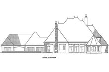 Architectural House Design - European style home, rear elevation