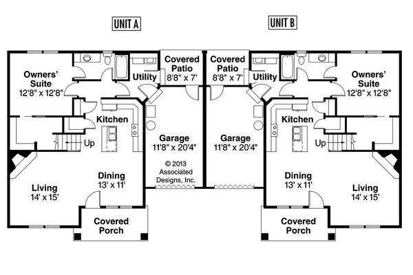 Craftsman Floor Plan - Main Floor Plan Plan #124-709