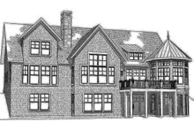 House Plan Design - Traditional Exterior - Rear Elevation Plan #901-137