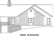 Craftsman Exterior - Rear Elevation Plan #17-2399