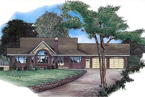 Traditional Exterior - Front Elevation Plan #409-1116