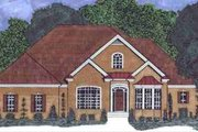 European Style House Plan - 4 Beds 3 Baths 3136 Sq/Ft Plan #69-156 Exterior - Front Elevation