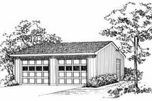 Traditional Exterior - Front Elevation Plan #72-245