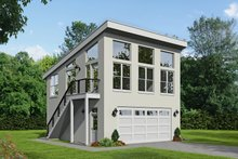 Dream House Plan - Contemporary Exterior - Front Elevation Plan #932-53