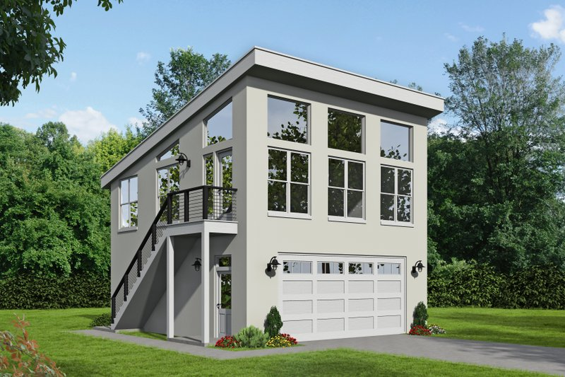 Home Plan - Contemporary Exterior - Front Elevation Plan #932-53