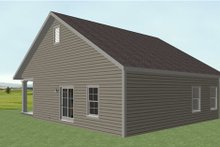 Country Exterior - Rear Elevation Plan #44-191