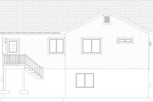 House Plan Design - Traditional Exterior - Rear Elevation Plan #1060-54
