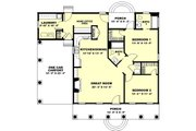 Country Style House Plan - 2 Beds 2 Baths 1301 Sq/Ft Plan #44-160 Floor Plan - Main Floor Plan