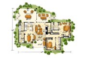 Cottage Style House Plan - 3 Beds 3 Baths 1689 Sq/Ft Plan #942-39 Floor Plan - Main Floor Plan