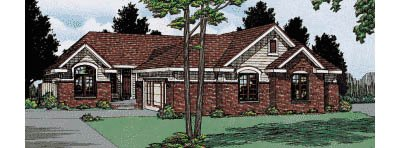 Traditional Exterior - Front Elevation Plan #20-614 - Houseplans.com