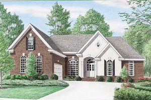 Home Plan - Traditional Exterior - Front Elevation Plan #34-137