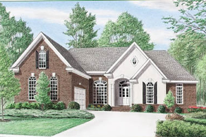 Traditional Exterior - Front Elevation Plan #34-137 - Houseplans.com