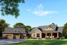 Craftsman Exterior - Front Elevation Plan #17-2595