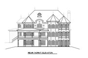 Victorian Style House Plan - 5 Beds 4 Baths 6720 Sq/Ft Plan #1066-55 Exterior - Other Elevation