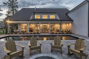 Country Style House Plan - 4 Beds 3.5 Baths 4469 Sq/Ft Plan #119-216 Exterior - Rear Elevation