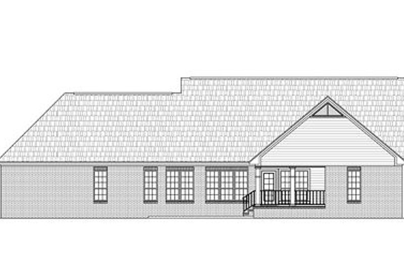 Traditional Exterior - Rear Elevation Plan #21-220 - Houseplans.com