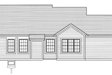 Country Exterior - Rear Elevation Plan #46-895