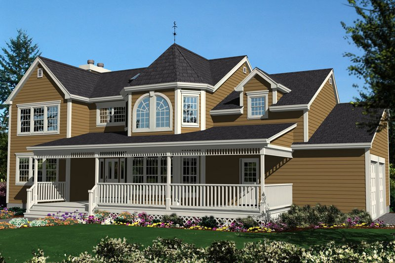 Colonial Exterior - Front Elevation Plan #3-187