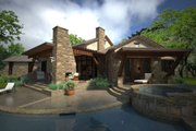 Ranch Style House Plan - 3 Beds 3 Baths 2352 Sq/Ft Plan #120-194 Exterior - Rear Elevation