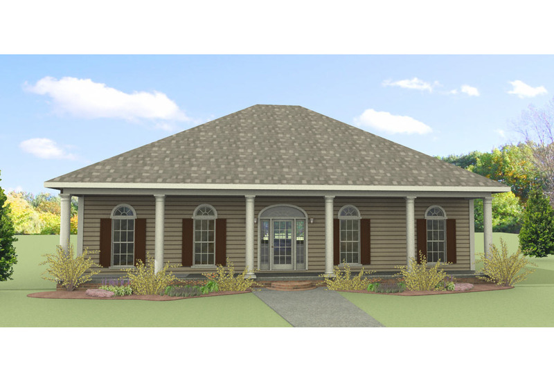 Southern Exterior - Front Elevation Plan #44-168 - Houseplans.com