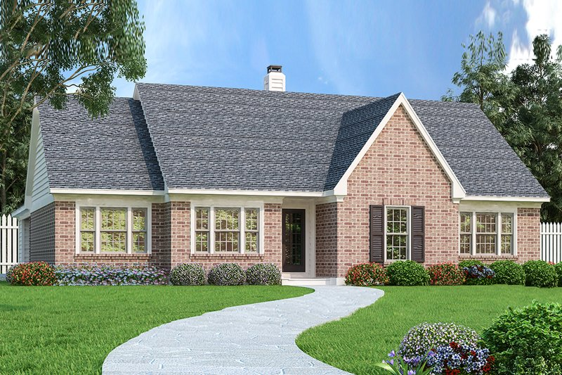 Ranch Style House Plan - 3 Beds 2 Baths 1898 Sq/Ft Plan #45-580 Exterior - Front Elevation