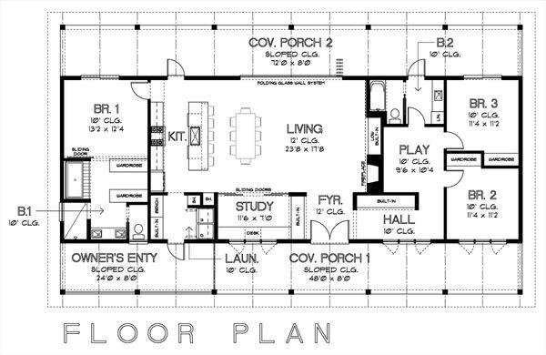 Ranch Floor Plan - Main Floor Plan Plan #449-16