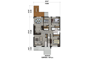 Contemporary Style House Plan - 9 Beds 3 Baths 3663 Sq/Ft Plan #25-4548 Floor Plan - Main Floor Plan
