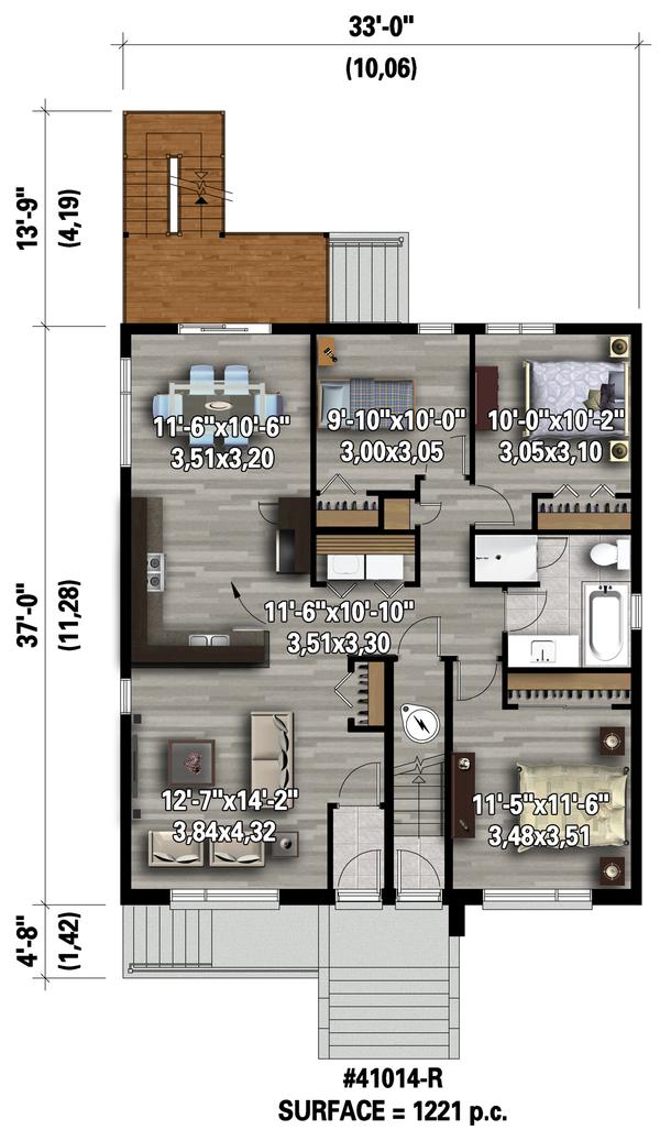Contemporary Floor Plan - Main Floor Plan Plan #25-4548