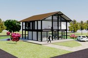 Modern Style House Plan - 3 Beds 3 Baths 2114 Sq/Ft Plan #542-4 Exterior - Front Elevation