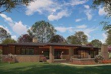 Dream House Plan - Prairie Exterior - Rear Elevation Plan #923-164