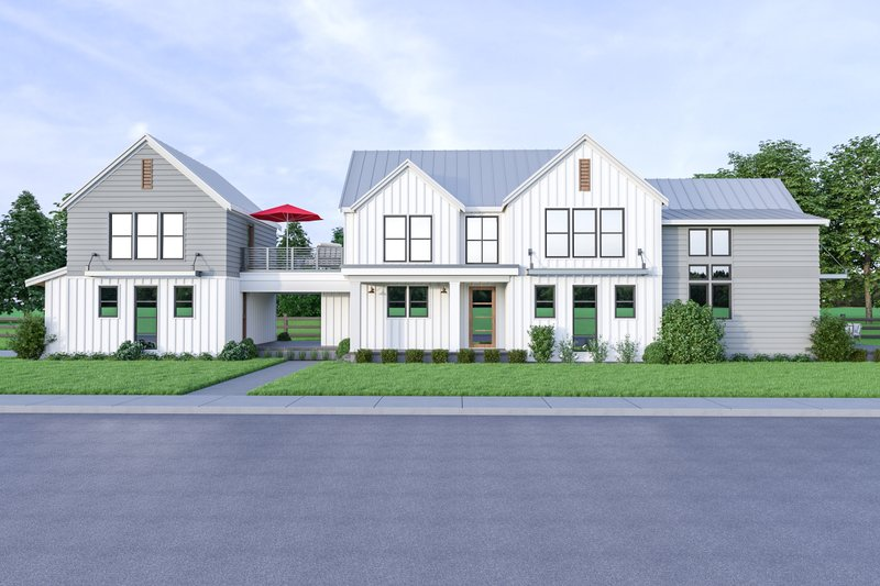 Architectural House Design - Contemporary Exterior - Front Elevation Plan #1070-84