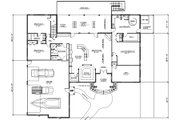 Country Style House Plan - 3 Beds 3 Baths 3121 Sq/Ft Plan #123-111 Floor Plan - Main Floor
