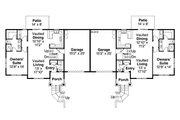 Craftsman Style House Plan - 3 Beds 2.5 Baths 1474 Sq/Ft Plan #124-889 Floor Plan - Main Floor Plan