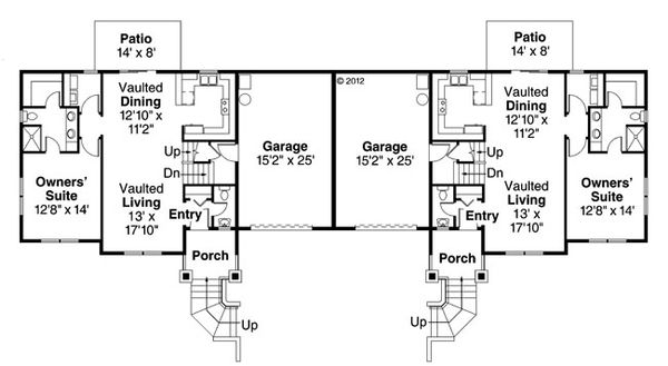 Craftsman Floor Plan - Main Floor Plan Plan #124-889