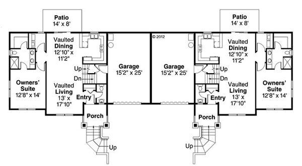 Craftsman Floor Plan - Main Floor Plan Plan #124-889