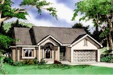 Dream House Plan - Traditional Exterior - Front Elevation Plan #405-167