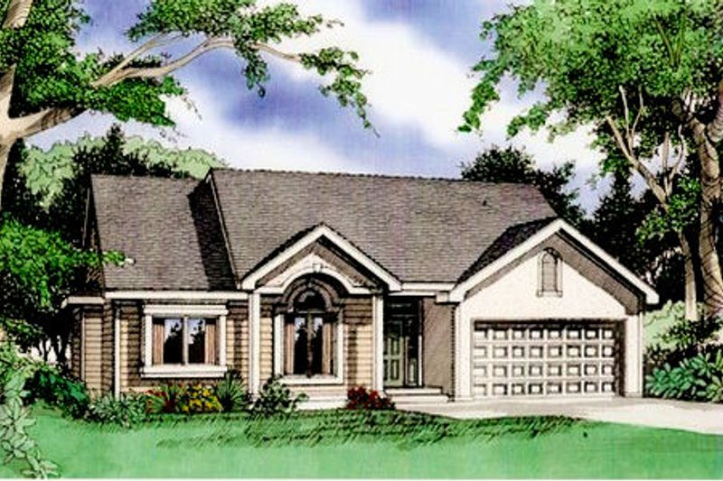 Traditional Exterior - Front Elevation Plan #405-167 - Houseplans.com