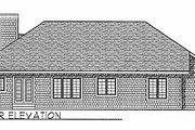 Traditional Style House Plan - 3 Beds 2 Baths 1927 Sq/Ft Plan #70-244 Exterior - Rear Elevation