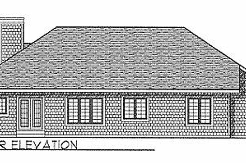 Traditional Exterior - Rear Elevation Plan #70-244 - Houseplans.com