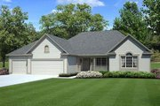 Traditional Style House Plan - 3 Beds 2 Baths 1738 Sq/Ft Plan #312-251 Exterior - Front Elevation