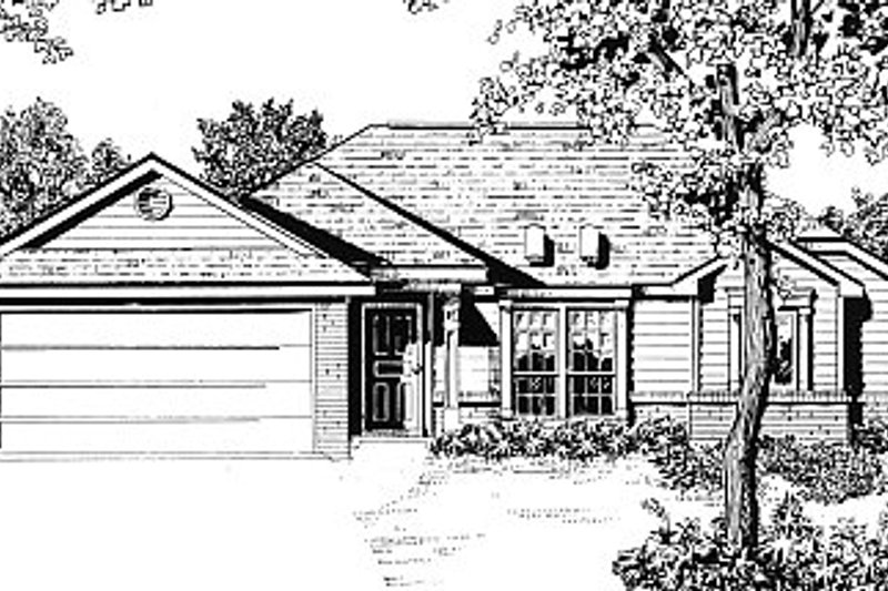 Traditional Exterior - Front Elevation Plan #14-141 - Houseplans.com
