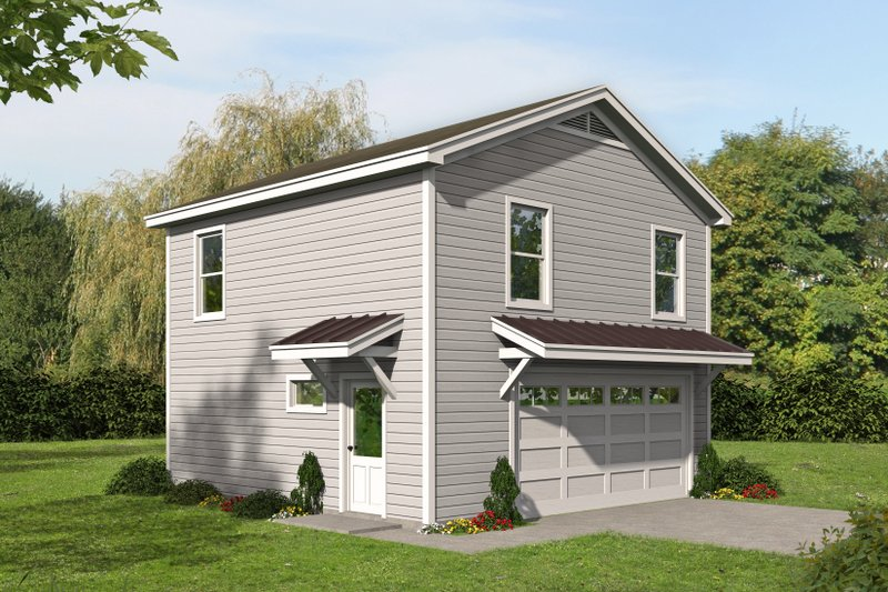 Traditional Style House Plan - 2 Beds 1 Baths 1152 Sq/Ft Plan #932-335