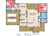 Country Style House Plan - 4 Beds 3 Baths 2456 Sq/Ft Plan #63-270 Floor Plan - Main Floor Plan