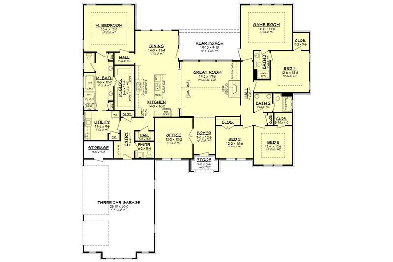 Ranch Floor Plan - Main Floor Plan Plan #430-186